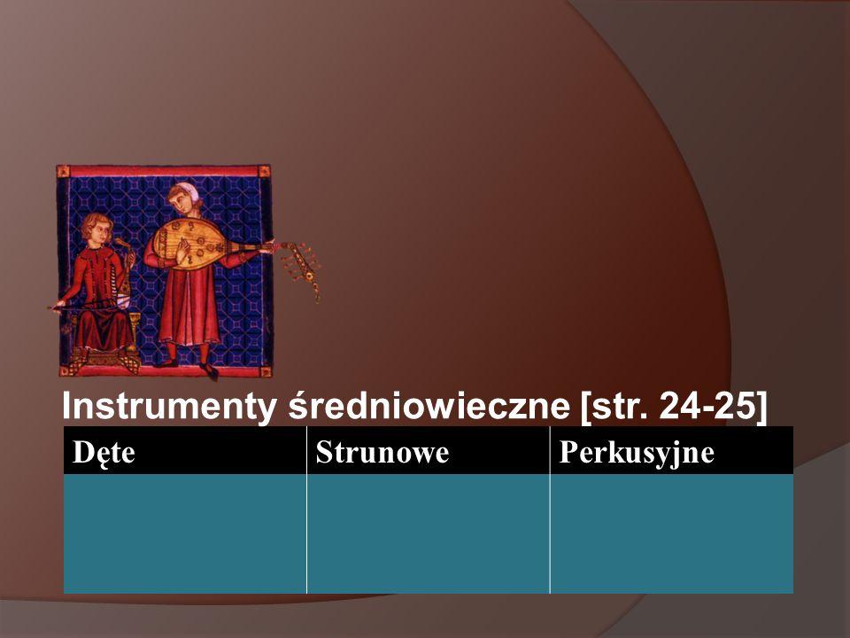 Instrumenty średniowieczne [str. 24-25]